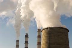 Centrale elettrica unita di calore Fotografie Stock Libere da Diritti