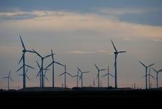 Centrale eolica, Austria Fotografia Stock Libera da Diritti