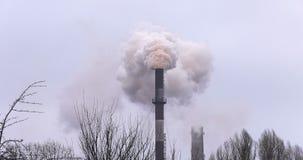 Centrale Fumée de la pipe banque de vidéos