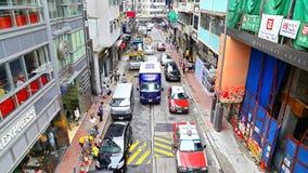 Centrale Hollywoodweg, Hongkong royalty-vrije stock foto's