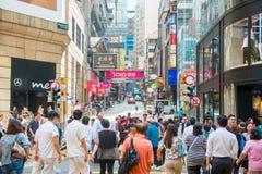 Centrale, Hong Kong - 23 settembre 2016:: centri commerciali in C fotografie stock