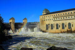 Centrale hydraulique Photos libres de droits