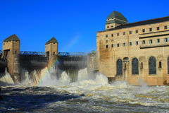 Centrale hydraulique Photo libre de droits