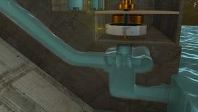 Centrale hydraulique illustration de vecteur