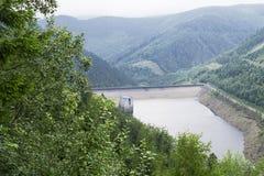 Centrale hydraulique de strane de Dlouhe République Tchèque Usine de stockage de pompe Images libres de droits