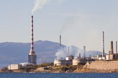 Centrale hydroélectrique Photos libres de droits