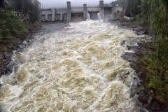 Centrale hydroélectrique dans Imatra photos libres de droits