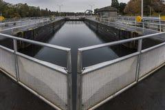 Centrale hydroélectrique de barrages et de portes Photos stock