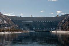 Centrale hydroélectrique de Sayano-Shushenskaya. Photographie stock