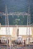 Centrale idroelettrica sul fiume del Volta nel Ghana immagine stock libera da diritti
