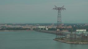 Centrale idroelettrica sul fiume Volga archivi video