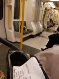 Centrale lijntrein aan Covent Garden stock foto's