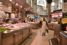 Centrale Markt - Mercado Centraal in Plaza Ciudad DE Brujas, Valencia Royalty-vrije Stock Fotografie