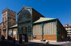 Centrale Markt in Palencia spanje stock foto