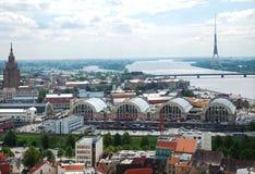Centrale markt van hoogste mening Riga.The Stock Foto's