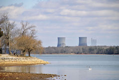 Centrale nucléaire Photo stock