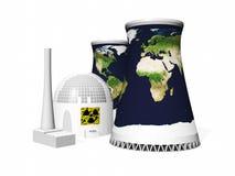 Centrale nucléaire Photographie stock libre de droits