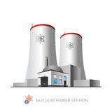 Centrale nucléaire Photographie stock