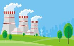 Centrale nucléaire Images stock