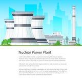 Centrale nucléaire d'affiche Images stock