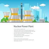 Centrale nucléaire d'affiche Photo stock