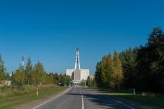 Centrale nucléaire d'Ignalina en Lithuanie Ville de Visaginas images libres de droits