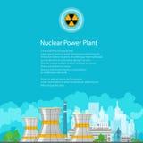 Centrale nucléaire d'insecte Photos libres de droits