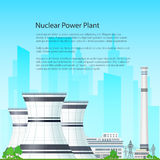 Centrale nucléaire d'insecte Images libres de droits