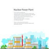 Centrale nucléaire d'insecte sur le fond blanc Photos stock