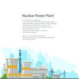 Centrale nucléaire de brochure sur le fond blanc Photo libre de droits