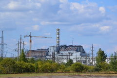 Centrale nucléaire de Chornobyl, zone de Chornobyl Images libres de droits