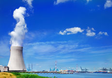 Centrale nucléaire de Doel Images libres de droits