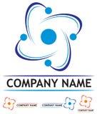 Centrale nucléaire de logo Images stock