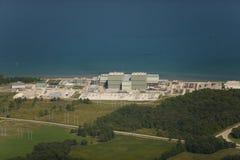 Centrale nucléaire de plage de point images libres de droits