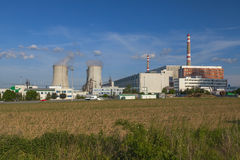 Centrale nucléaire Dukovany dans la République Tchèque l'Europe Photo libre de droits