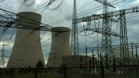 Centrale nucléaire Grafenrheinfeld banque de vidéos