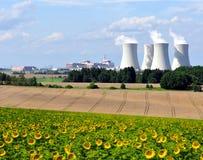 Centrale nucléaire Temelin photo libre de droits