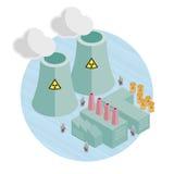 Centrale nucleare Illustrazione Vettoriale