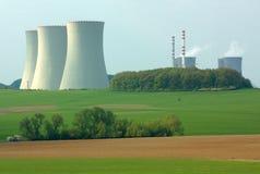 Centrale nucleare Fotografia Stock Libera da Diritti
