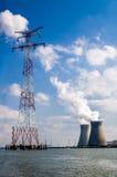 Centrale nucleare, Belgio Fotografie Stock