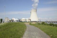 Centrale nucleare di Doel, le Fiandre orientali, Belgio Fotografia Stock