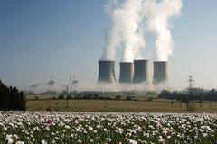 Centrale nucleare di Temelin Fotografie Stock