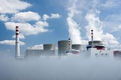 Centrale nucleare di Temelin Fotografia Stock Libera da Diritti