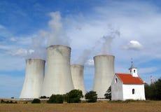 Centrale nucleare Dukovany Fotografia Stock