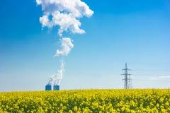 Centrale nucleare Temelin fotografia stock