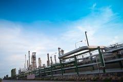 Centrale pétrochimique Image libre de droits