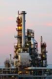 Centrale pétrochimique dans la nuit Photographie stock
