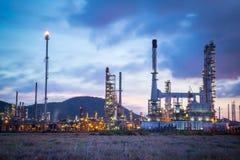 Centrale pétrochimique de raffinerie de pétrole photo libre de droits