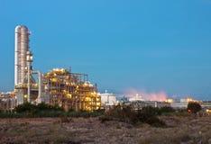 Centrale petrolchimica fotografia stock libera da diritti