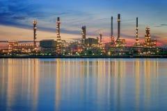 Centrale petrolchimica Fotografia Stock